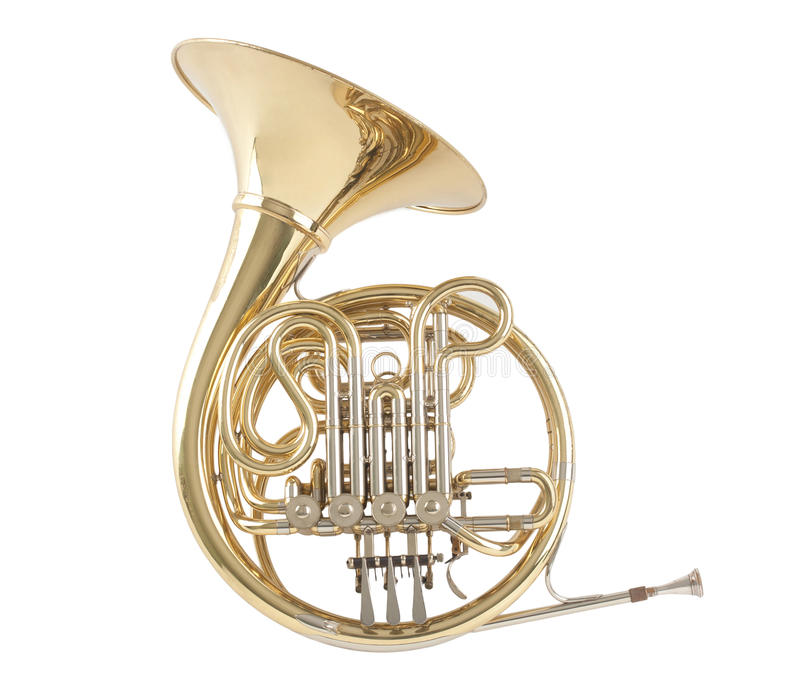 French horn. The sound of music royalty free stock photos