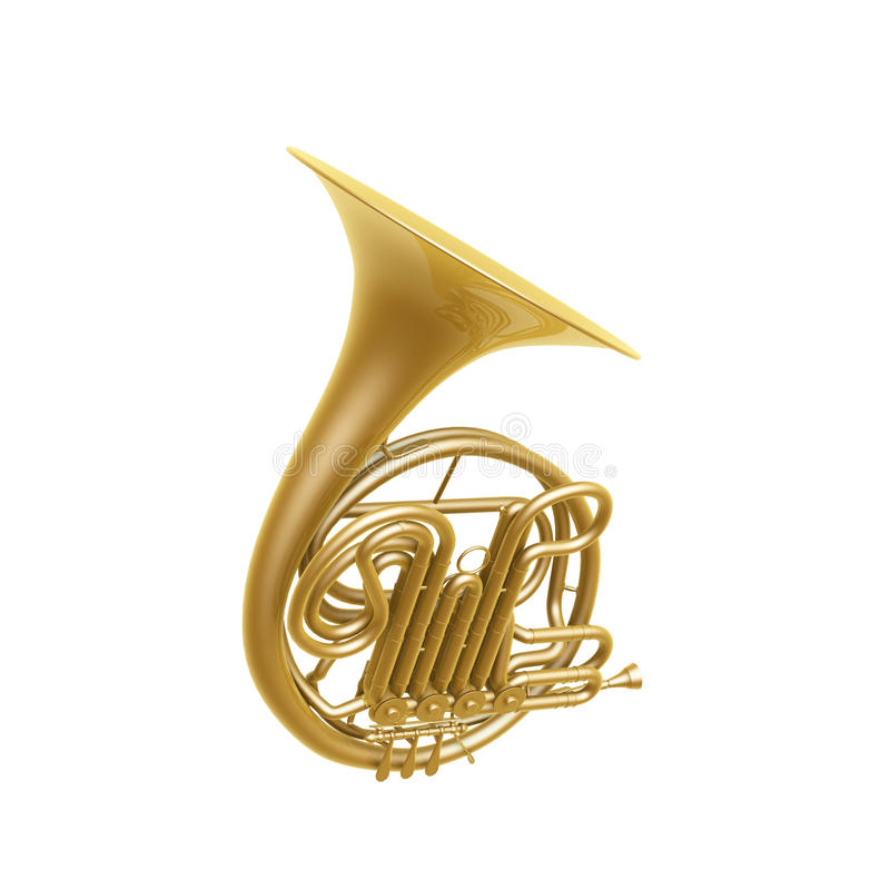 Download French horn stock illustration. Image of skill, sound - 28673404