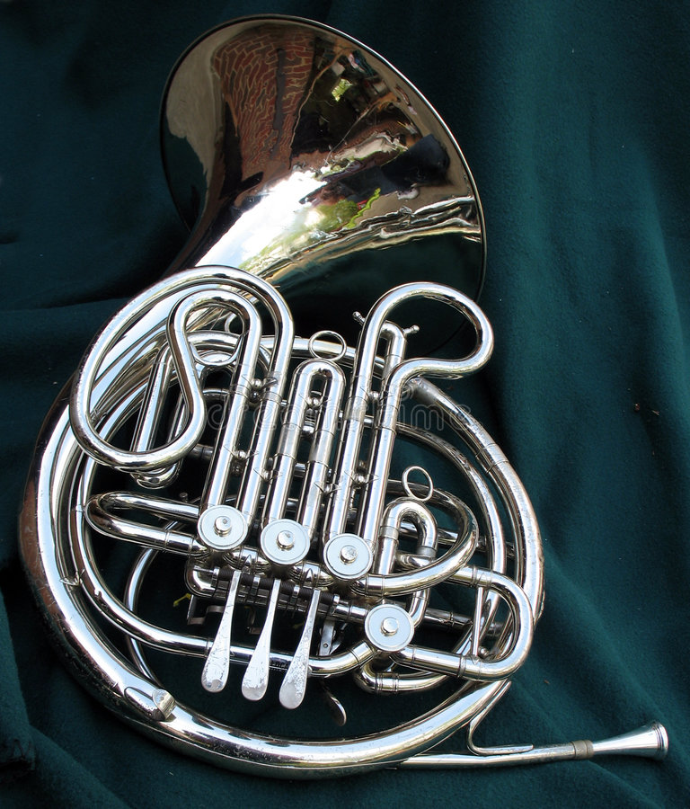 Download French horn stock image. Image of reflection, french, horn - 738847