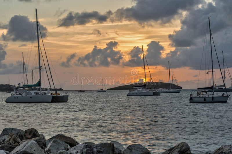 A French Island Sunset stock images