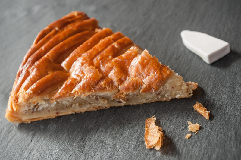 Download French Kingcake On Chalkboard Stock Photo - Image: 83711547