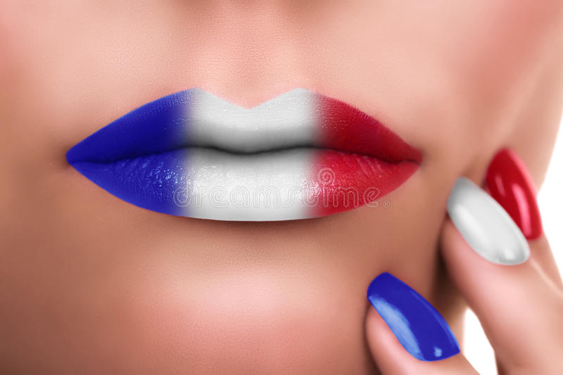 French Kiss Flag stock images