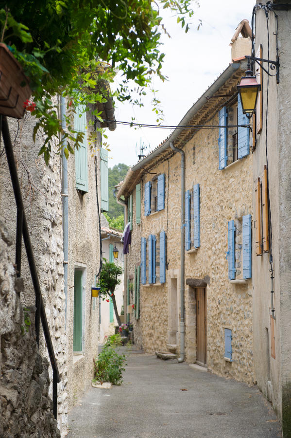 French lane. Little French lane in Buis-les-Baronies in France royalty free stock photos