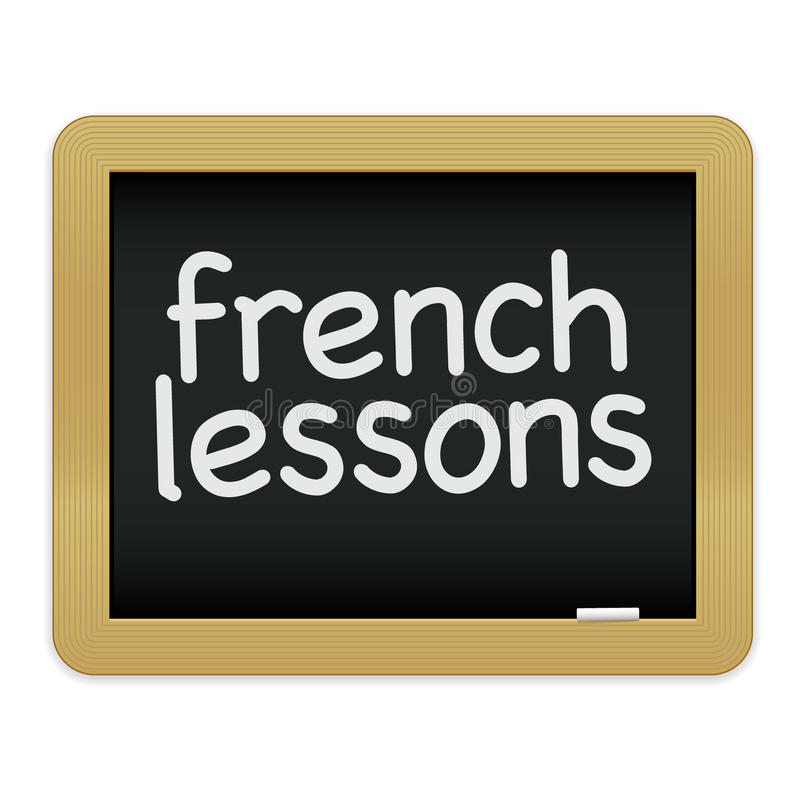 Download French Lessons Chalkboard EPS Stock Vector - Illustration: 16170901