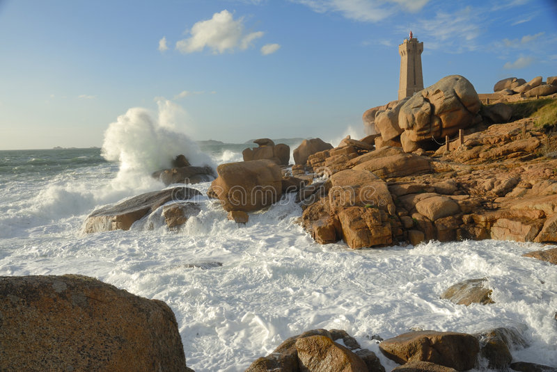 French Lighthouse royalty free stock image