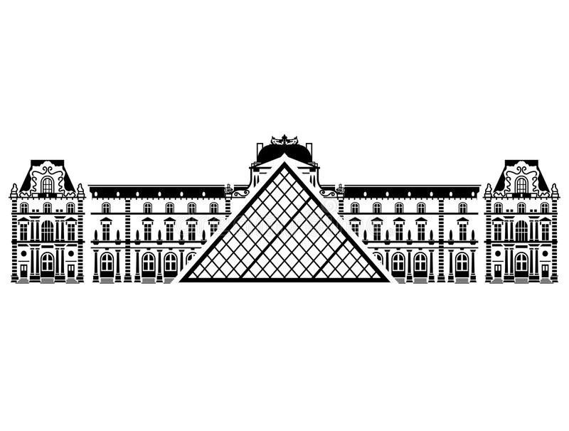 french louvre museum in black and white color stock vector rh dreamstime com musee du louvre clipart musee du louvre clipart