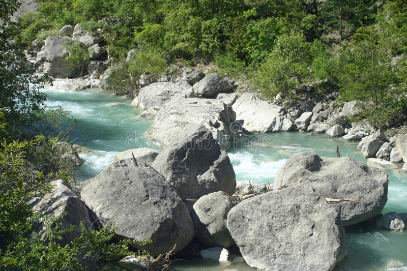 French lower alpine valley river royalty free stock photos