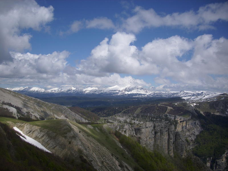 French lower alpine valley royalty free stock photo