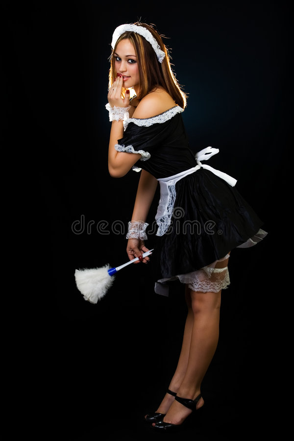 House Duster: French Maid Stock Photo. Image Of Expression, Full, Black
