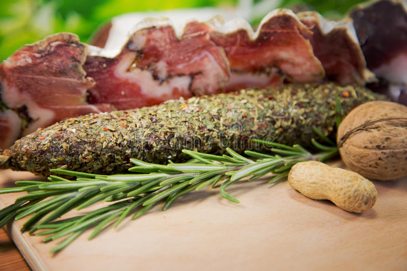 French meat sliced stock images