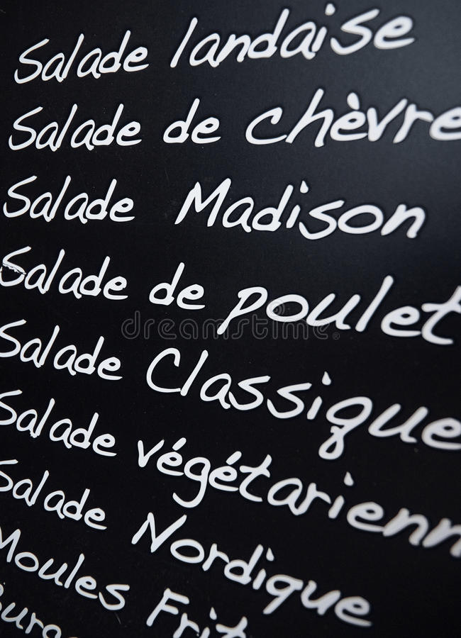 Download French menu stock photo. Image of food, dinner, writing - 16063466