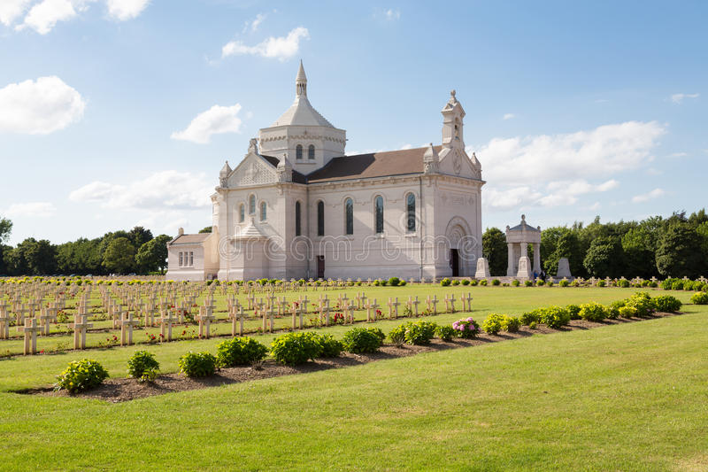 French military cemetery of Notre Dame de Lorette. Notre Dame de Lorette, also known as Ablain St.-Nazaire French Military Cemetery, is the world's largest stock images
