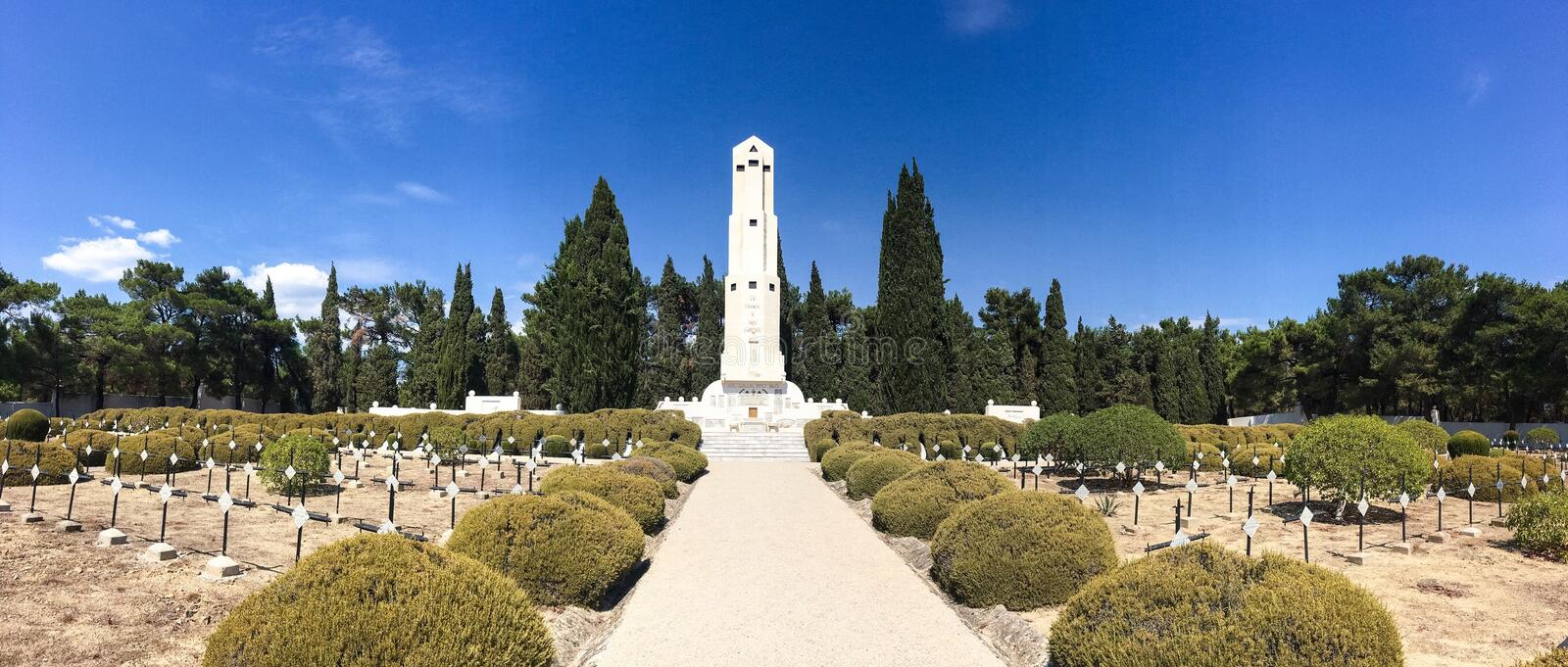 French Military Cemetery of Seddulbahir in Gallipoli,Canakkale,Turkey. French Military Cemetery of Seddulbahir in Gallipoli,Canakkale,Turkey stock photo