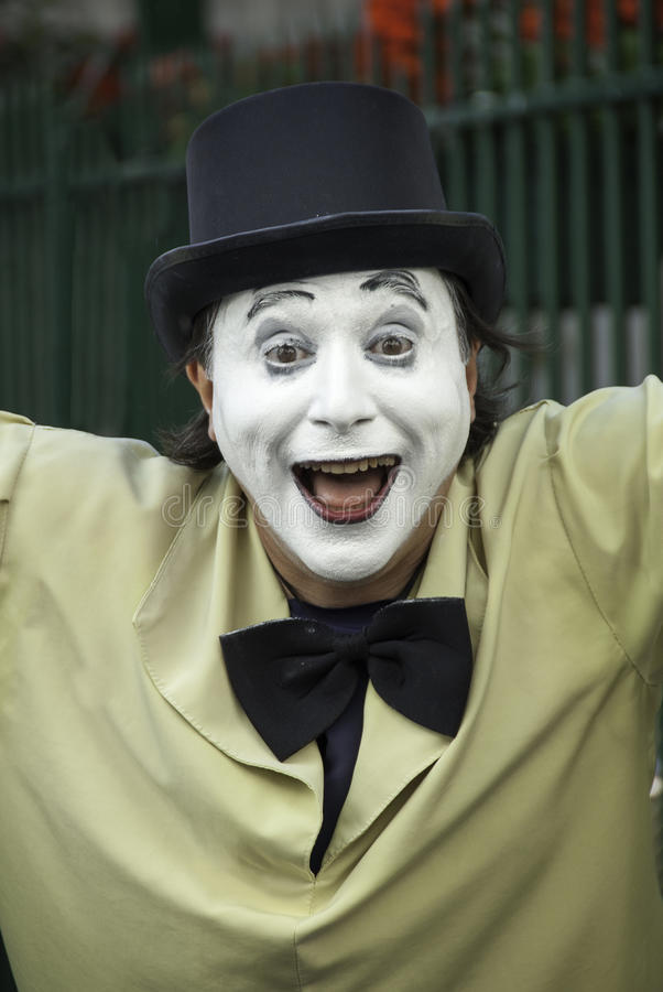 French Mime with a joyful expression