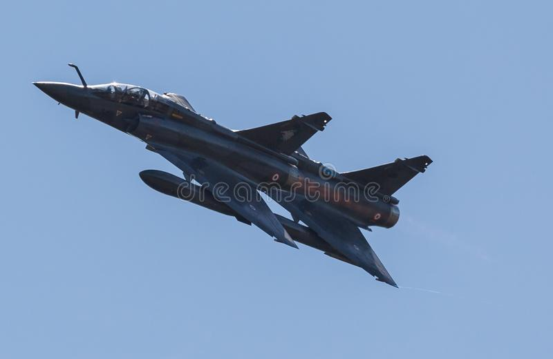 French Mirage 2000 patrol royalty free stock photography
