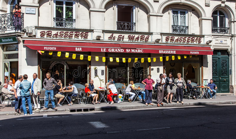 French Morning stock photo