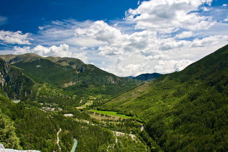 French Mountain View In Canyon Verdon Stock Image
