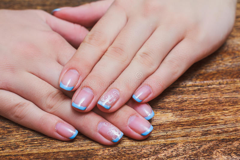 French nail art in light blue color stock photo image of line download french nail art in light blue color stock photo image of line healthy prinsesfo Choice Image