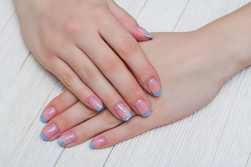 French nail art in light blue color stock photo image of lilac download french nail art in light blue color stock photo image of lilac body prinsesfo Choice Image