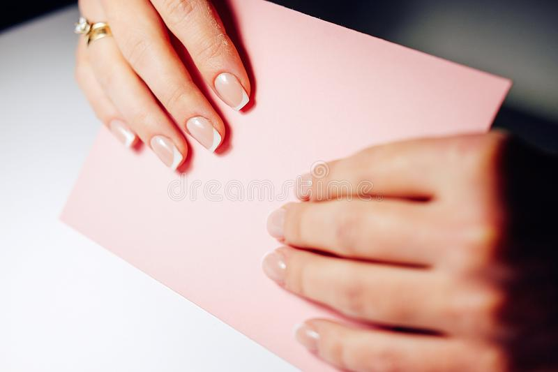 Download Gel Nail Extensions Build Up Process Stock Image