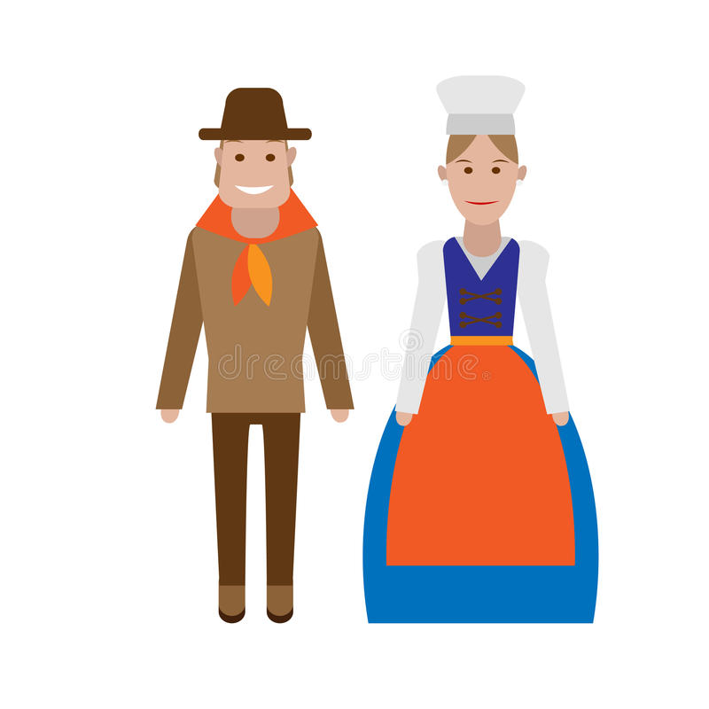 Download French national costume stock vector. Image of france - 33410996