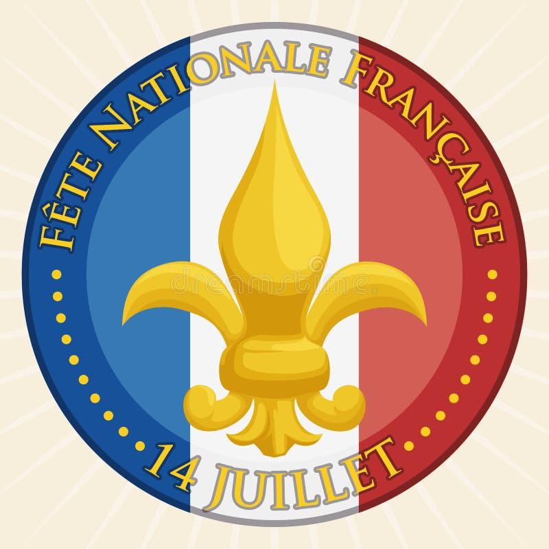 French National Symbol Fleur Delis Vector Illustration Stock