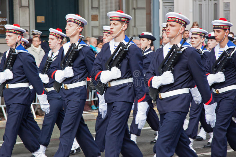 French Navy On Parade Editorial Stock Image