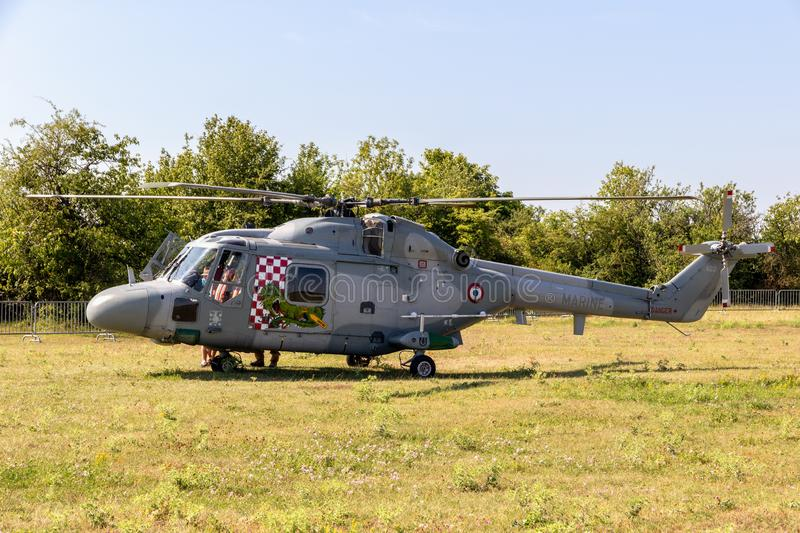 French Navy Westland Lynx helicopter i stock photography