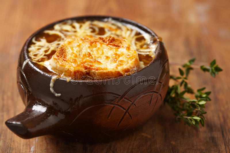 French onion soup. See my other works in portfolio royalty free stock images