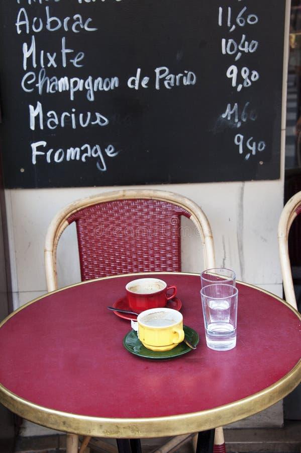 French outdoor cafe stock photos