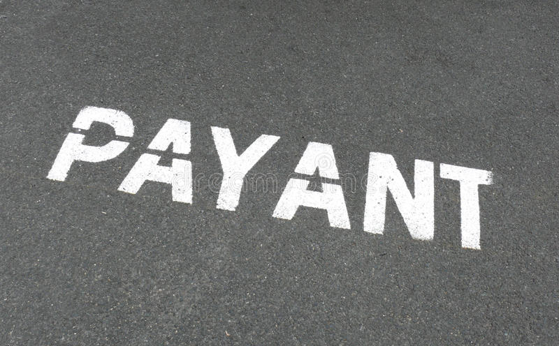 French payant parking sign