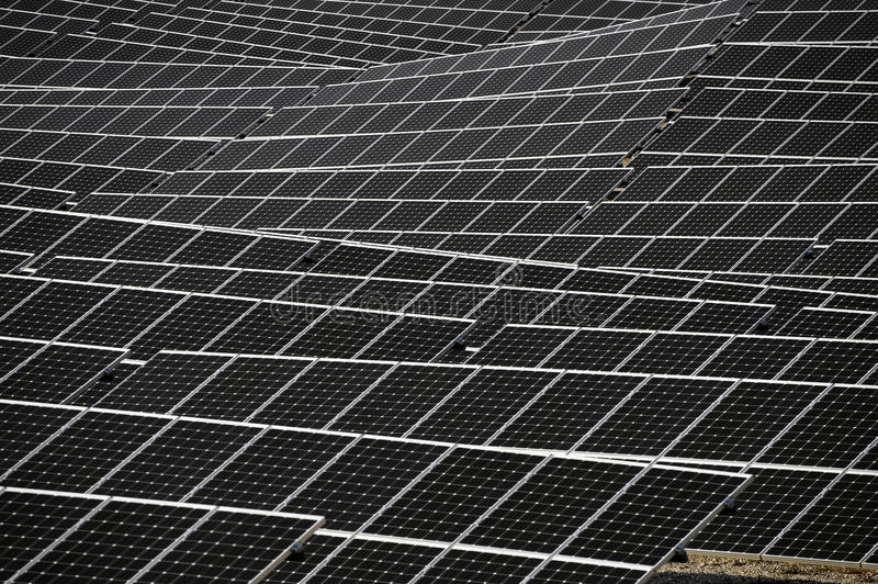 French photovoltaic solar plant. In the Gard department in Ales royalty free stock image