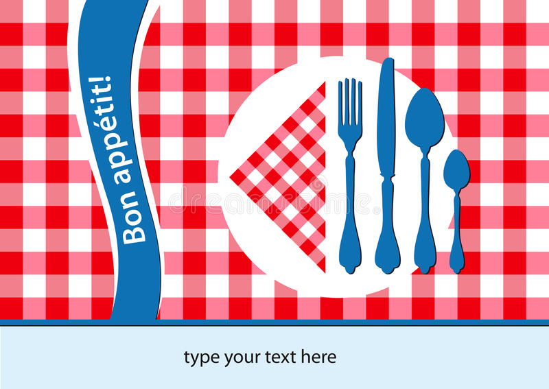 French Placemat Background Royalty Free Stock Image