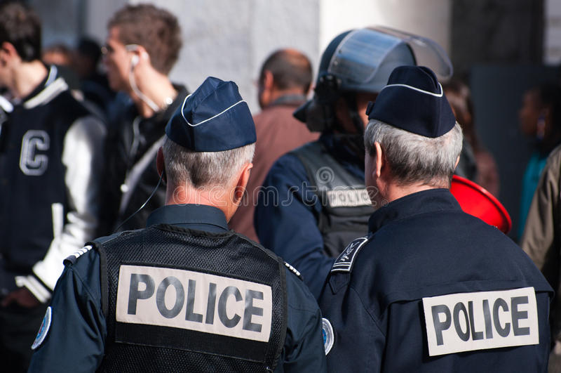 French policemen royalty free stock photo
