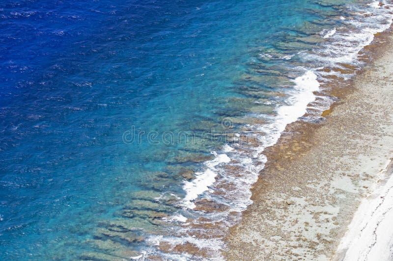 French polynesia aerial view stock image
