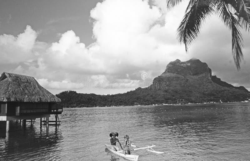 French Polynesia: Bora Bora Sunset Cruise. French Polynesia: A wonderfull Bora Bora Sunset Cruise looks like a dream in times of Corona Covid19 virus royalty free stock photography
