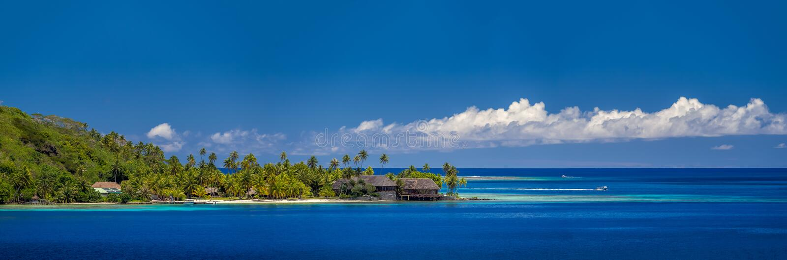 French Polynesia. The lagoon at Bora Bora French Polynesia stock photo