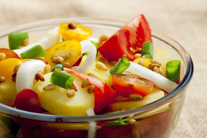 French potato salad stock photos