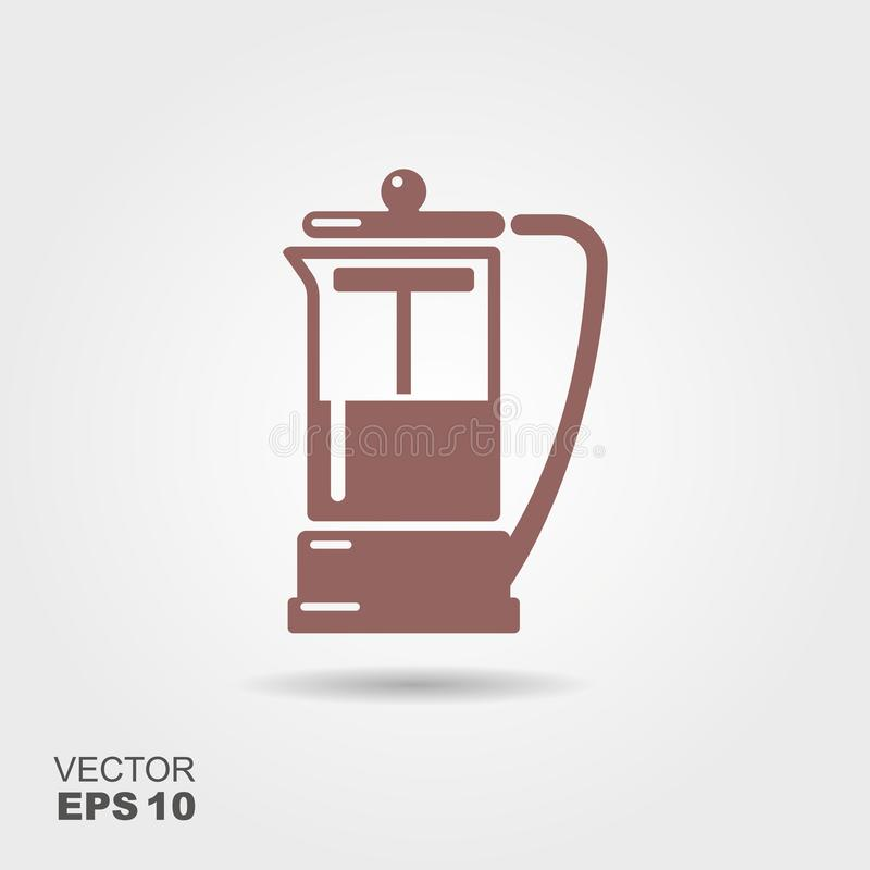 French press vector icon royalty free illustration