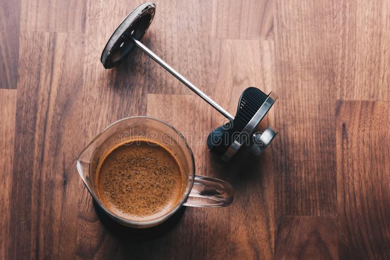 French press coffee pot royalty free stock image