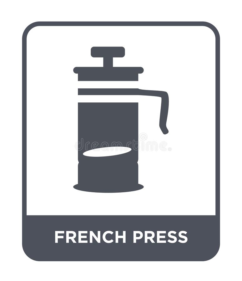 french press icon in trendy design style. french press icon isolated on white background. french press vector icon simple and royalty free illustration