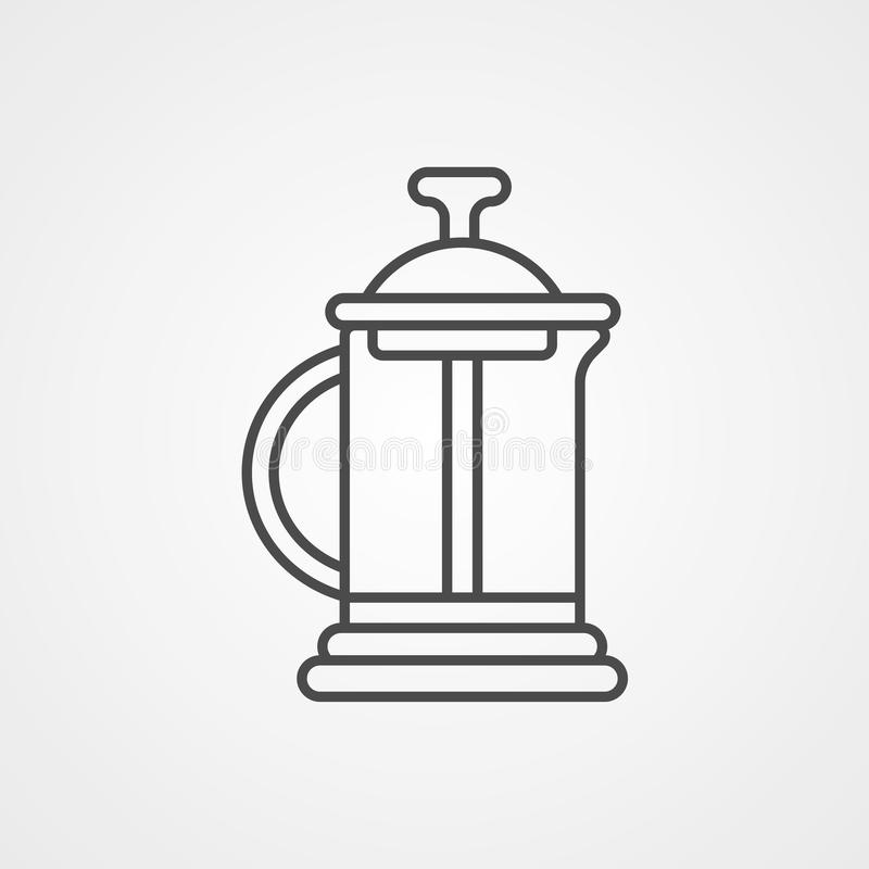 French press vector icon sign symbol royalty free illustration