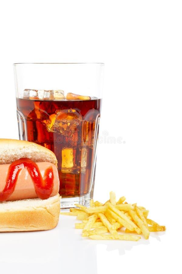 french psa fry gorącą wodę zdjęcie royalty free