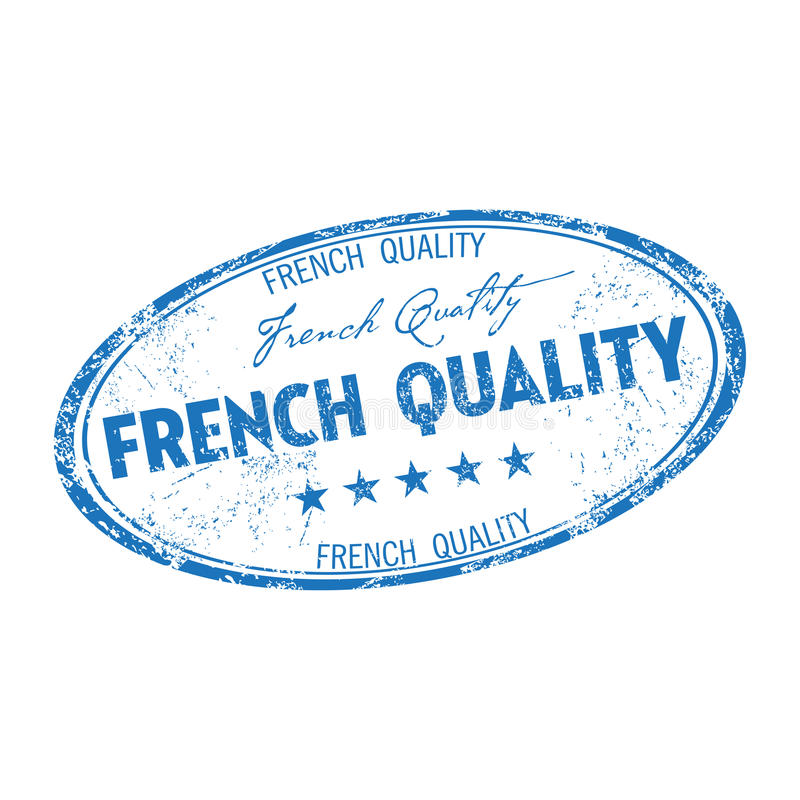 French quality grunge rubber stamp stock photos