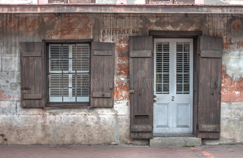 French Quarter House royalty free stock photos