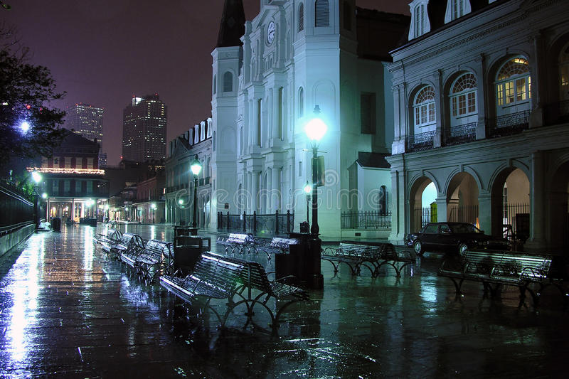 Download French Quarter Night editorial photo. Image of historic - 14158631