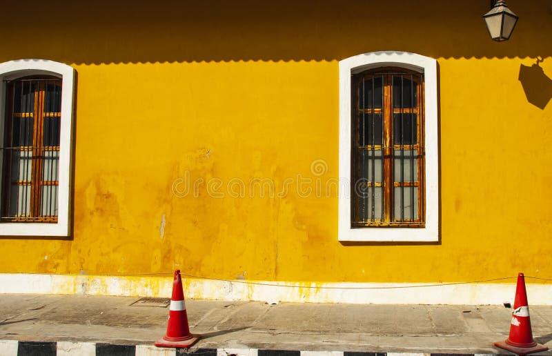 French Quarter of Pondicherry, India. French Quarter of Pondicherry in India stock photo
