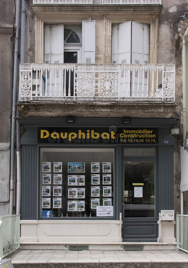 French real estate office in avignon france stock images