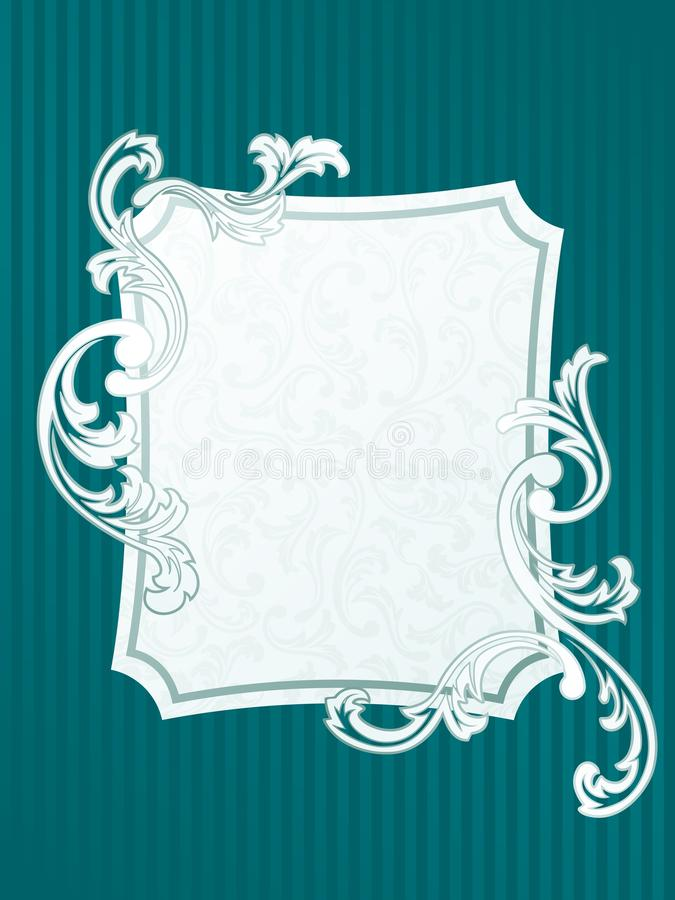 Download French Rectangular Retro Frame In Green Stock Vector - Illustration of elegant, invitation: 12613107