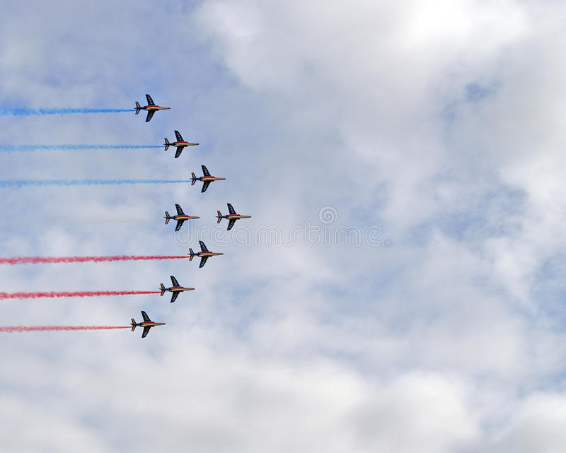 french red arrows stock photography